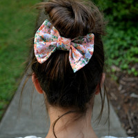 Colorful Floral Bow