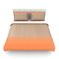 "Brittany Guarino ""Art Orange"" Queen Cotton Duvet Cover - Outlet Item"