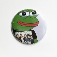 Pepe the Sad Frog-One Direction-2.25 inch pinback button