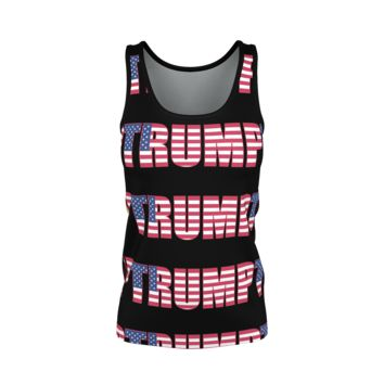 """Trump"" with Flag - Women's Tank Top"