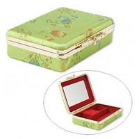 Brocade Jewelry Travel Case with Mirror (Hard Case)