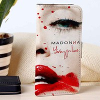 Madonna - Living for love | Singer | Music | custom wallet case for iphone 4/4s 5 5s 5c 6 6plus 7 case and samsung galaxy s3 s4 s5 s6 case