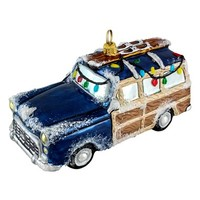Joy to the World Collectibles 'Woody Car' Ornament - Blue