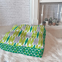 Heather Dutton Abacus Emerald Floor Pillow Square