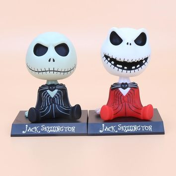 The Nightmare Before Christmas jack Wacky Wobbler Bobble Head with box PVC Action Figure Collectible Model Toy size in 10cm