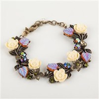 La Contessa - Fall Foliage Flower Leaf Bracelet