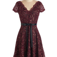 ModCloth Mid-length Cap Sleeves A-line Talent to Spare Dress