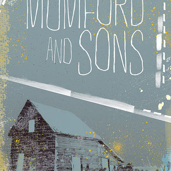 Mumford and Sons Poster - Limited Edition of 100