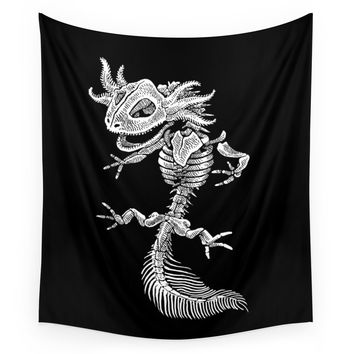 Society6 Axolotl Skeleton Wall Tapestry