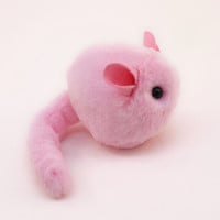 Easter Gift Stuffed Animal Cute Plush Toy Chinchilla Kawaii Plushie Pinkie the Pink Chinchilla Cuddly Faux Fur Toy Small 4 x 5 Inches