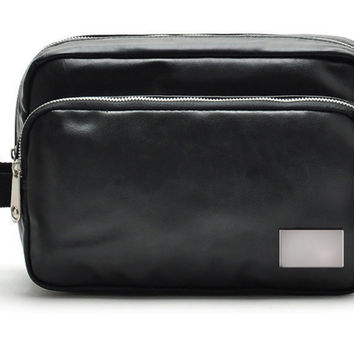 Mens Leather Toiletry Travel Bag + FREE SHIPPING
