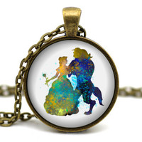 Beauty and the Beast Necklace - Beauty and the Beast Jewelry - Disney neckace - Disney jewelry - Princess Belle - Disney Princess #2