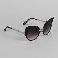 Pointy Defined Round Cat Eye Sunglasses