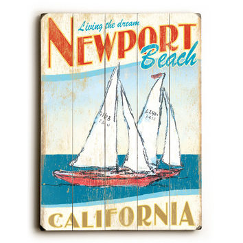 Personalized Sailboats Wood Sign