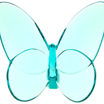 "Baccarat ""Lucky"" Butterfly Turquoise Crystal 2105932"