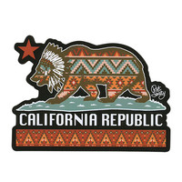 Riot Society Cali Republic Sticker Blue Combo One Size For Men 27071524901