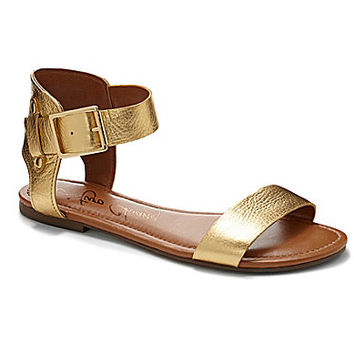 Arturo Chiang Kassandra Metallic Sandals - Gold