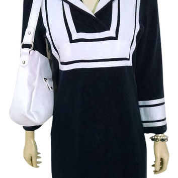Tory Burch Casual Navy White Dress Size Small