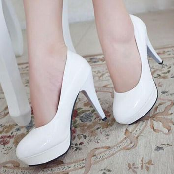 Size 34~42 ladies Women's Pumps Sexy Vintage Bottom Platform High Heels Shoes women's
