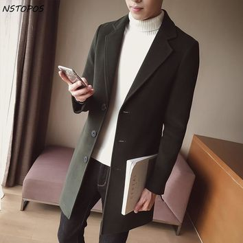 Man Classic Fashion Trench Coats Black Red Army 5xl Men Long Trench Slim Fit Overcoat Men Coats Fashion Trench Outerwear