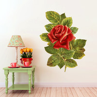 Edith Flower Illustration Wall Decals