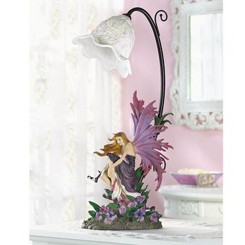 Fairy and Orchid Table Lamp