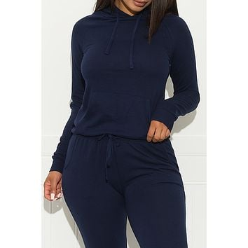 Set You On Track Sweater Navy