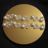 GOLD SPHERE CHRISTMAS ornament with pearl bubbles