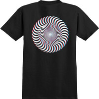 Spitfire 3d Classic Swirl Tee Large Black