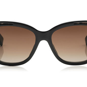 Jimmy Choo - Bebi Black and Animal Print Square Framed Sunglasses