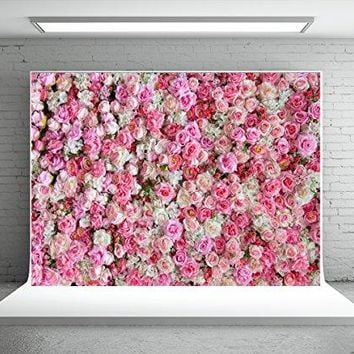 Backdrop Wedding Pink Red Rose Flowers Photography Microfiber Studio Background Booth Props