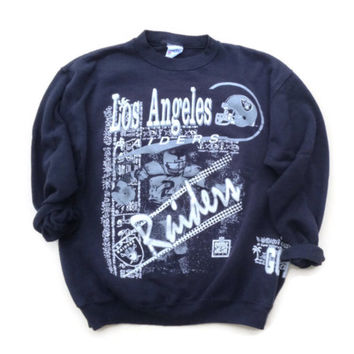 LA Raiders 90s Crewneck Sweatshirt - Los Angeles Raiders National Football League - Vintage Football Gift - Gift for Him