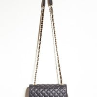 Quilted Faux Leather Crossbody
