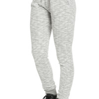 Marled Grey Wafer Jogger Sweatpants
