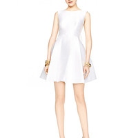 Kate Spade Open Back Silk Mini Dress Fresh White