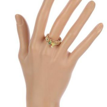 3 Pc Cactus Crystal Stone Size 8 Ring