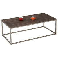 Acme Cecil Coffee Table - Walnut & Brushed Nickel