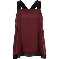 River Island Womens Dark red chunky strap cami