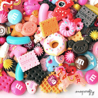 50pcs decoden sweets and kawaii assorted cabochons and embellishments