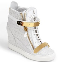 Giuseppe Zanotti 'Lorenz' High Top Wedge Sneaker