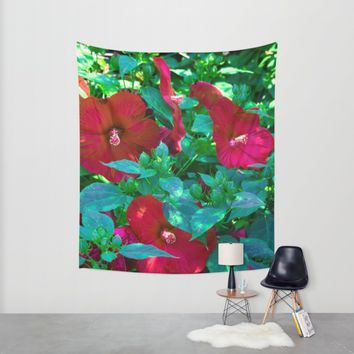 Giant Poppies Wall Tapestry by Scott Hervieux | Society6