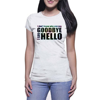 Goodbye Hello Graphic Tee (mj-os-NL3900-goodbyehello-mltclr)