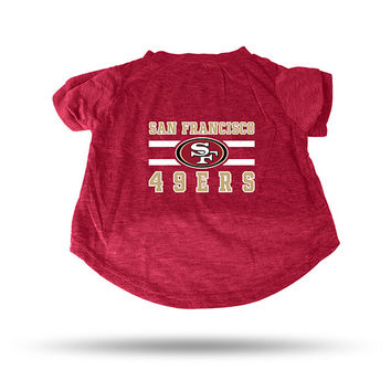 49ERS RED PET T-SHIRT - MEDIUM