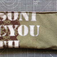 SONIC YOUTH - Upcycled Concert/ Band T-shirt Makeup/ Pencil Pouch - ooak