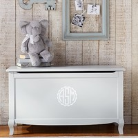 Claudia Toy Chest, Vintage Soft Gray | Pottery Barn Kids
