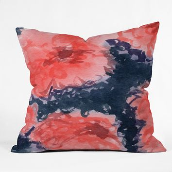 Social Proper Stark Blumen Throw Pillow