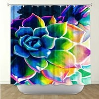 Rachel Brown's 'Supplication Succulent' | Artistic Shower Curtains