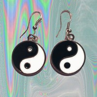 Yin Yang Dangle Earrings from ☯ harajuku alien ☯