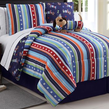 Victoria Classics Dog Reversible Comforter Set