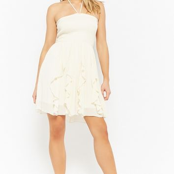 Gauze Smocked Halter Dress